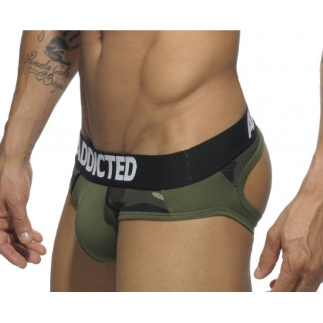 Jockbrief Addicted Kaki, Combi Mesh