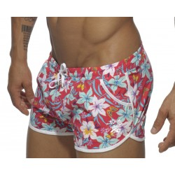 Short de bain Addicted Rouge, Hawaiian