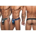 Pack de 3 strings Addicted Camo Mesh Thong Push Up