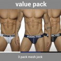 Pack de 3 jockstraps push up mesh Addicted AD479P